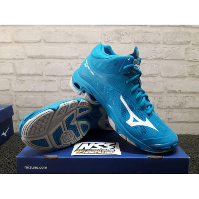 Sepatu Volley Mizuno Original Wave Lightning Z4 Blue Gold V1ga180051 ... 40119392c0