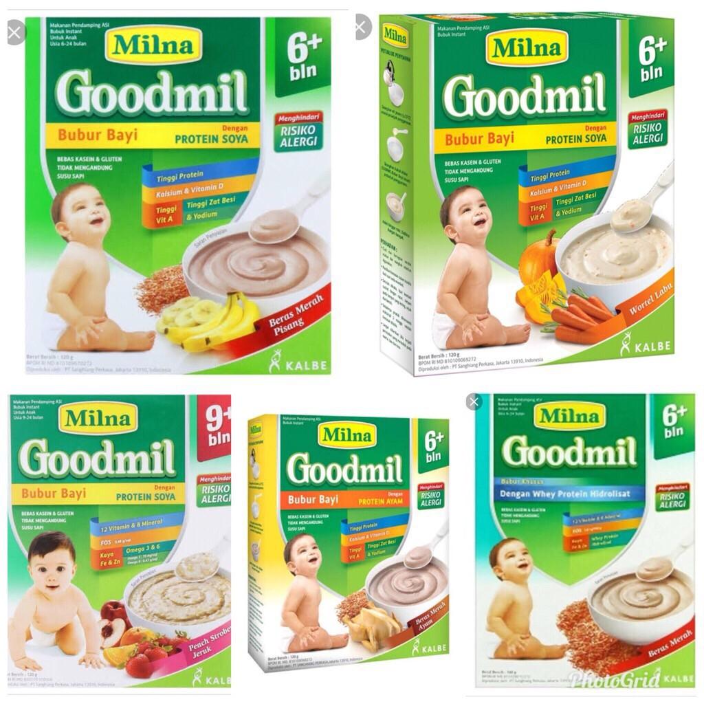Milna Goodmil Protein Soya 6 120gr Bubur Bayi Makanan Bayi 6