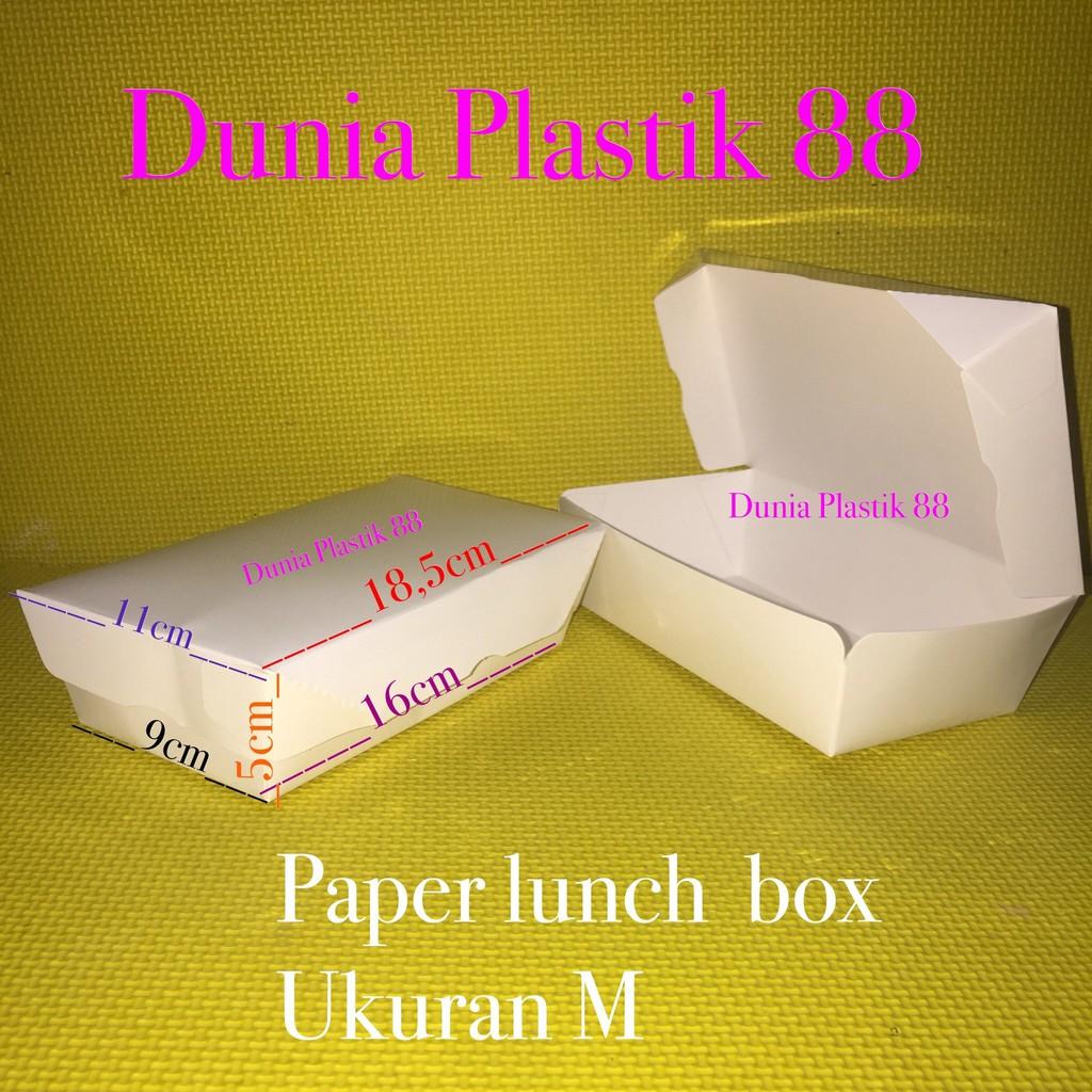 Box Lunchbox Paper M Kotak Nasi Tempat Makan Takeaway 100 Pcs Lunch Merk Ergopak Hot Sale Isi 50pcs Dus Makanan Kertas Uk Take Away