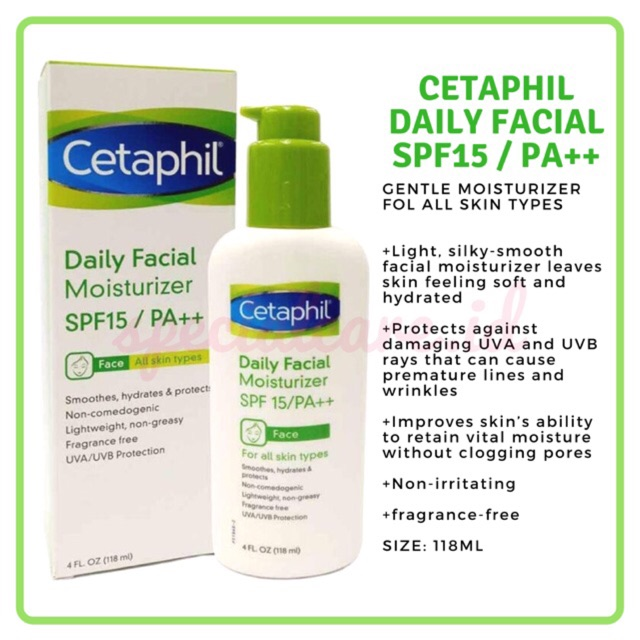 Cetaphil Daily Facial Moisturizer SPF 15 -118ML Exp date May 2020 | Shopee Indonesia