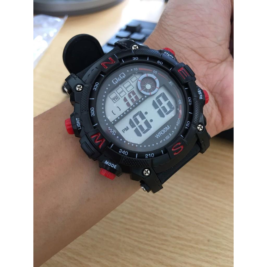 Jam Tangan Pria Wanita Qnq Q Q Qq Sport Wr30m Premium Black Red Shopee Indonesia
