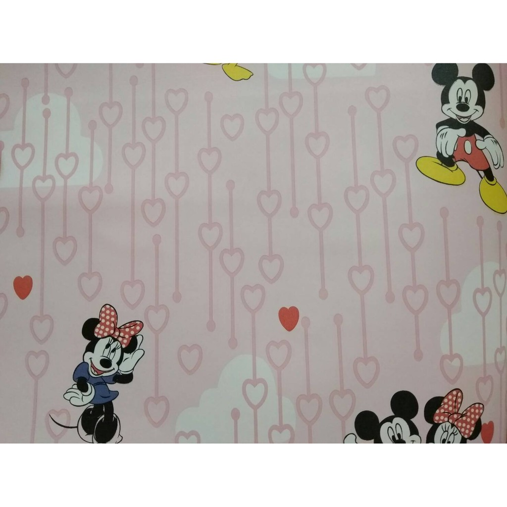 Wallpaper Dinding Motif Mickey Mouse Wallpaper Disney Motif Wallpaper Lucu