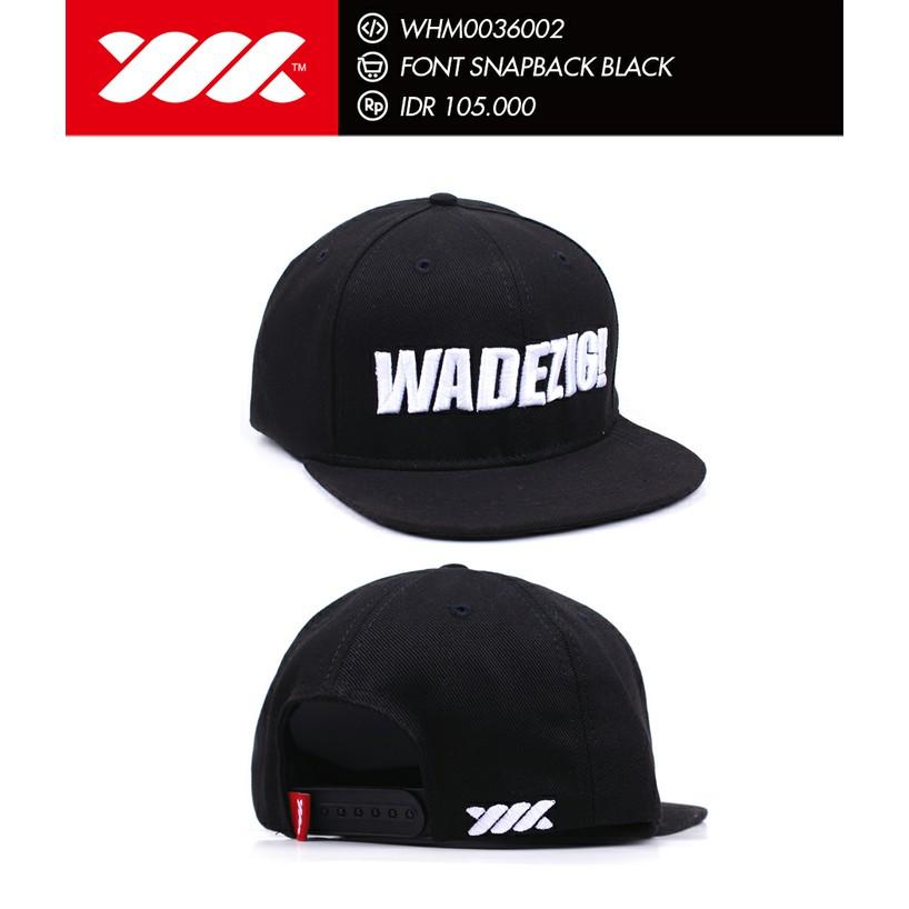 Produk Terbaru Topi Font Snapback Black Wadezig Original Produk Murah  Berkualitas  a1789cedea