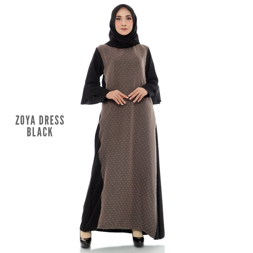 Zoya Dress - Baju Gamis Wanita Muslim Hijab Casual Dress Hijabers Pakaian  Cewek Fashion Murah