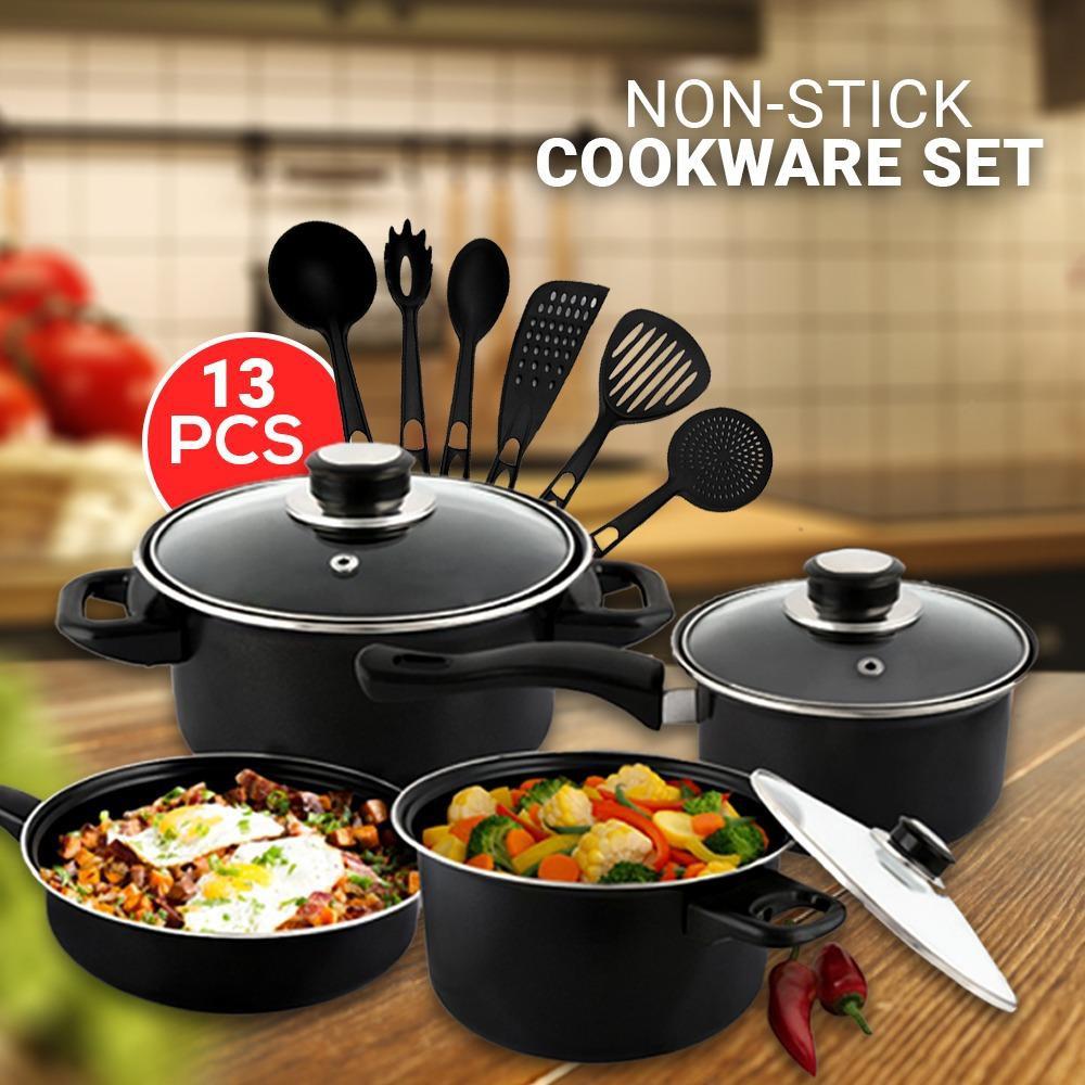 Cookware set 5 in 5 Peralatan Masak Dapur Panci Tutup Teflon kitchen tools  home perlengkapan rumah