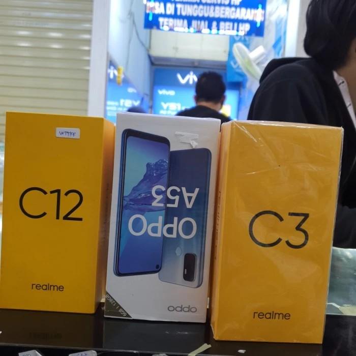 hp realme C3 X4 - realme C12 X2 - Oppo A53 ram 6 x1 - 4/64GB X1