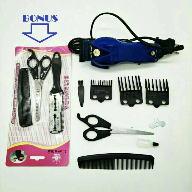 Mesin Alat Cukur Rambut Listrik Terbaik Happy King Hk-900 Putih - Potong  Pangkas Hair Clipper  e27d87fa0a