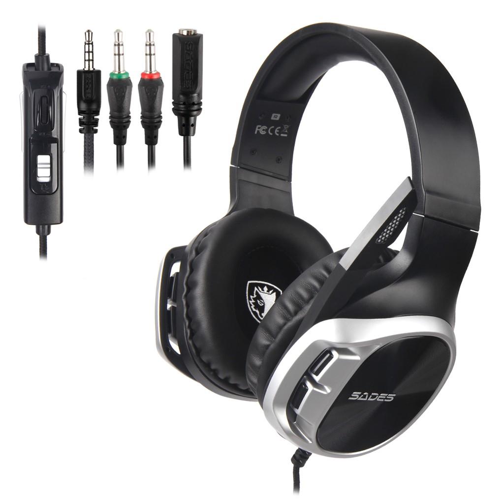 SADES r17 3.5mm Headset Gaming Bass Kabel 3.5mm dengan Mic untuk PS4 XBox One Laptop PC