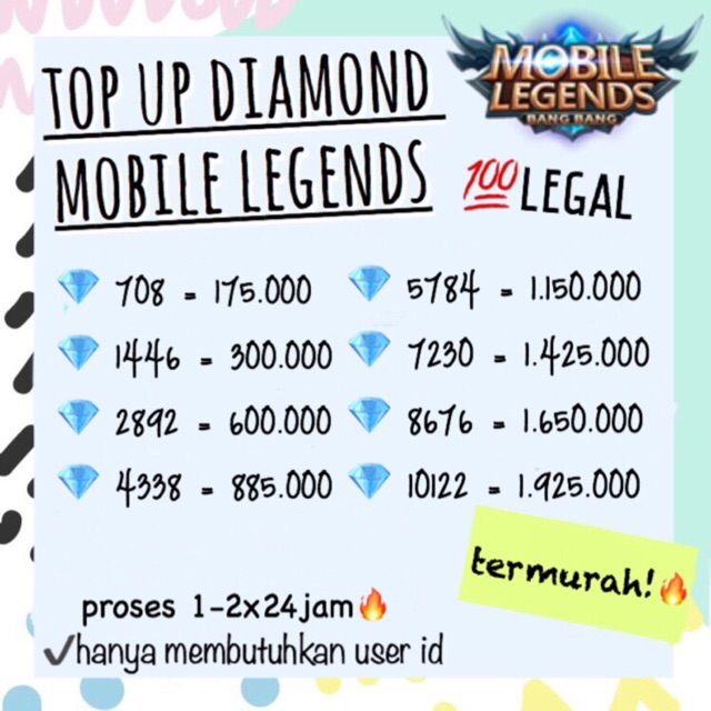 Top Up Diamond Free Fire Battleground Garena 100 Legal Resmi