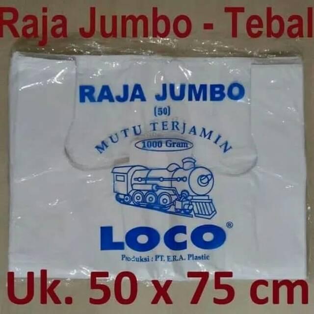 Kantong Plastik Kresek Loco Tebal Merah 1 kg ukuran 50 | Shopee Indonesia