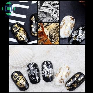 [Bayar Di Tempat]Stiker Foil Glitter Emas Silver 3D untuk Dekorasi Manicure DIY 6