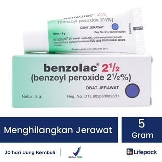 BENZOLAC 2.5 Persen 5 Gr - Obat Jerawat Salep Acne Gel - LIFEPACK thumbnail