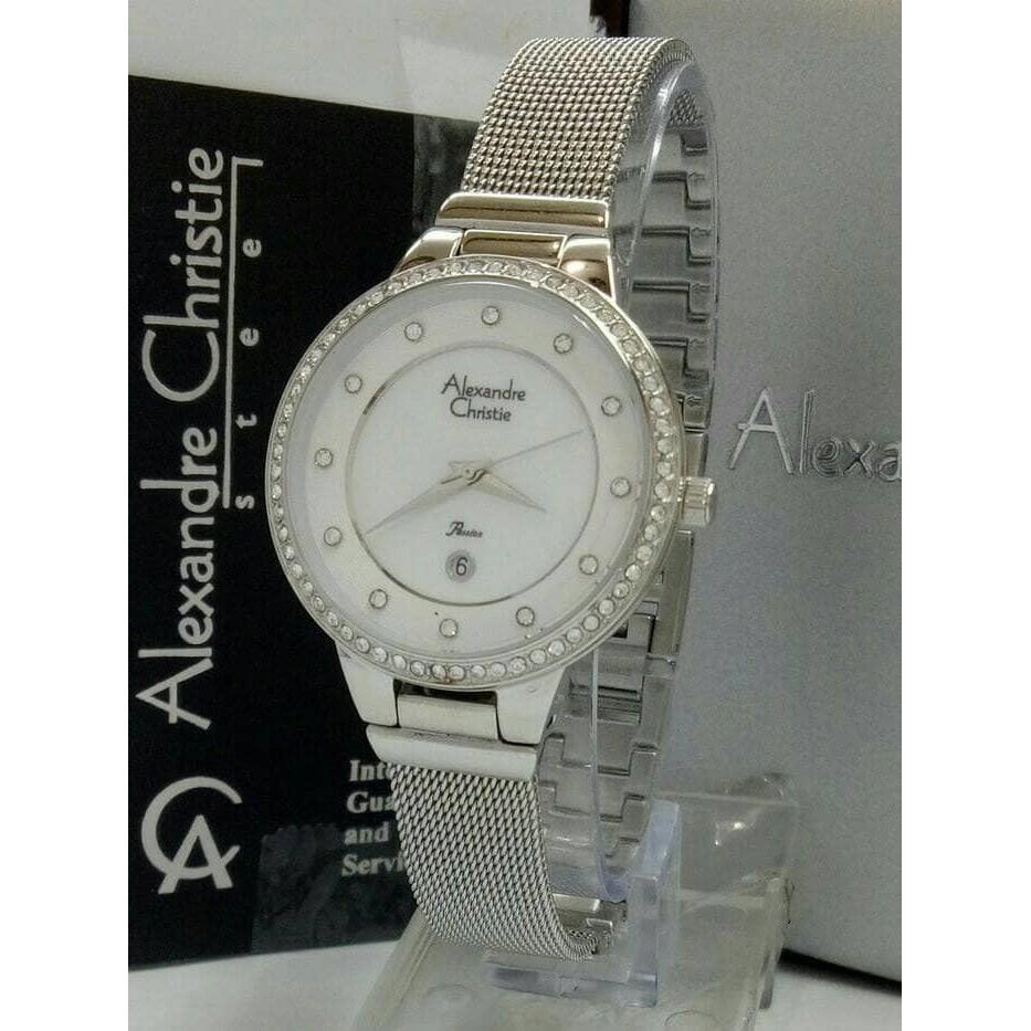Alexandre Christie Ac 2671 Wanita Silver White Original Watch Jam Tangan 2337 Rose Gold Putih Shopee Indonesia