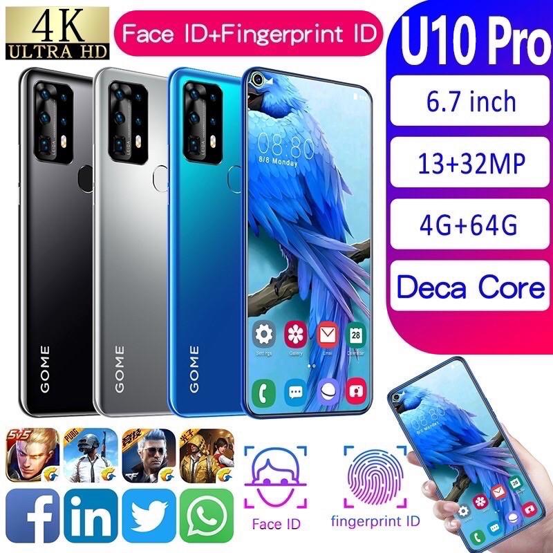 GOME U10 PRO/RAM 4GB&RAM64GB JARINGAN 4G SMAPTPHONE 6,7 HP ANDROID