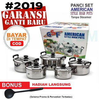 Panci set 5pcs american style high pots Gsf 1625 tanpa steamer