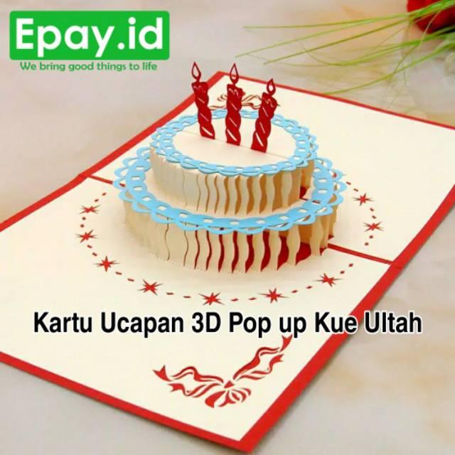Kartu Ucapan Kue Cake Ulang Tahun Happy Birthday Gift Card 3d Pop Up Ultah Hbd Hadiah Unik Kado Shopee Indonesia