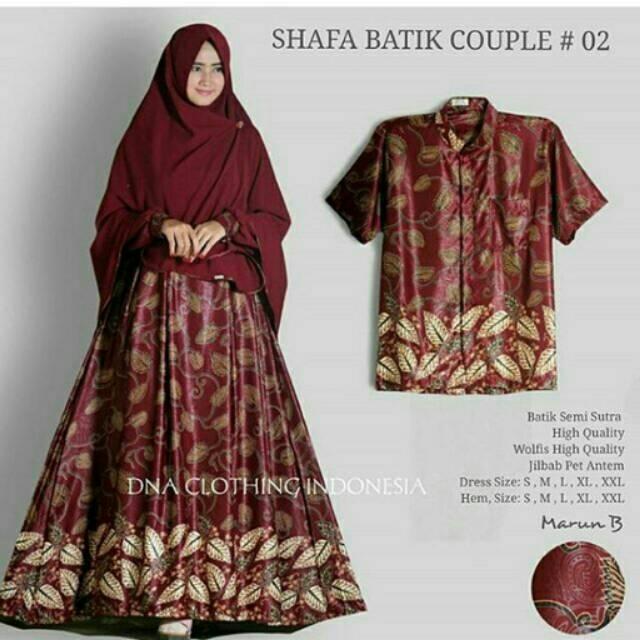 Baju Batik Modern Untuk Orang Tua: Batik Couple Syari Baju Lebaran Baju Gamis Batik Jumbo
