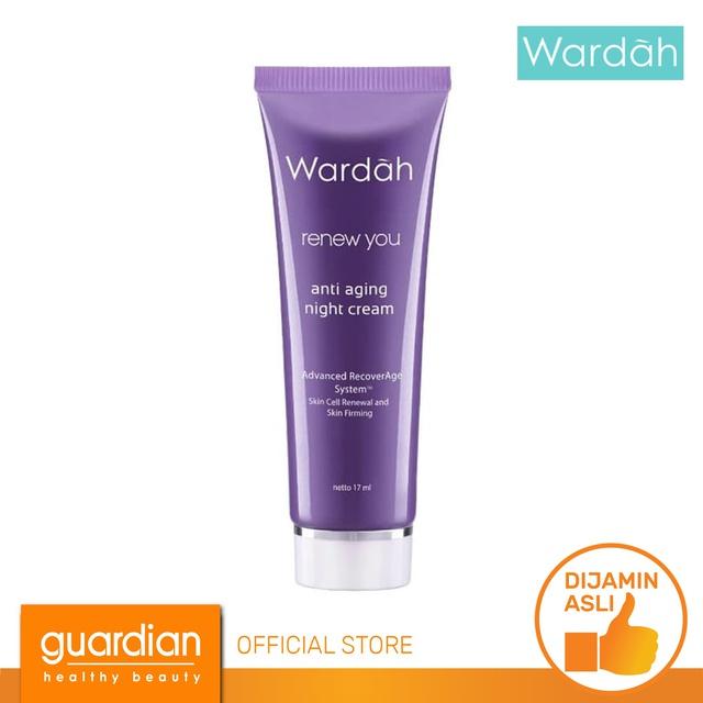Wardah Renew You Anti Aging Night Cream 17 ml | Shopee ...