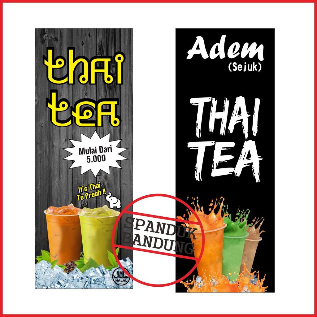 Desain Spanduk: Banner Thai Tea / Spanduk Thai Tea / Banner Costume