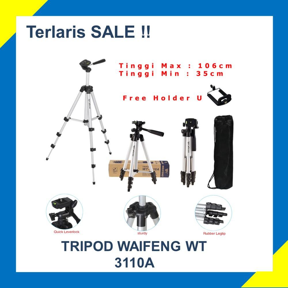 Tripod Kamera Tefeng Tf 3110 Holder U Hp Shopee Portable T3110 Mini Dan Indonesia