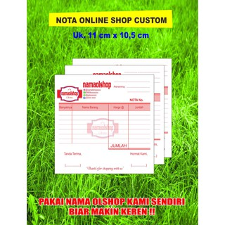 Nota Olshop Customkwitansifakturinvoice Ukuran 16 Folio