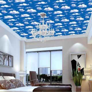 wallpaper sticker awan biru wps184 stiker dinding kamar