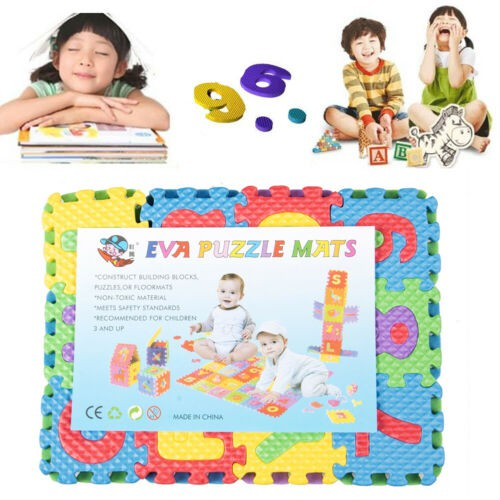 SOFT EVA FOAM BABY CHILDREN KIDS PLAY EVA MAT ALPHABET LEARNING PUZZLE JIGSAW