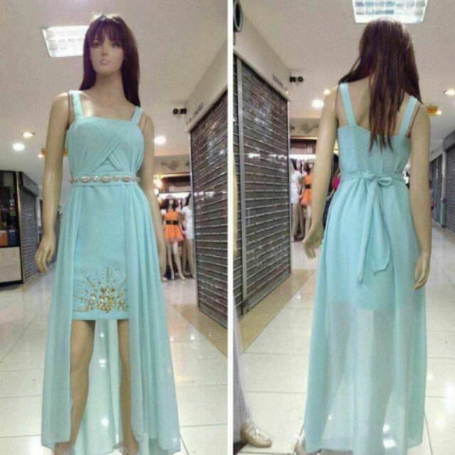 Dress import  Gaun pesta pendek ekor  Baju pesta KOREA  Dress pesta premium   e203919eee