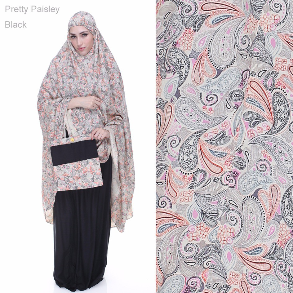Pretty Paisley Series By Rumah Tazkia Shopee Indonesia Mukena Rayon Alamanda Flower Red