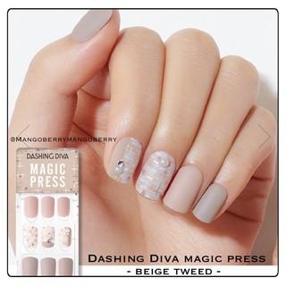 DASHING DIVA magic press manicure - BEIGE TWEED (fake nail, kuku palsu korea) thumbnail