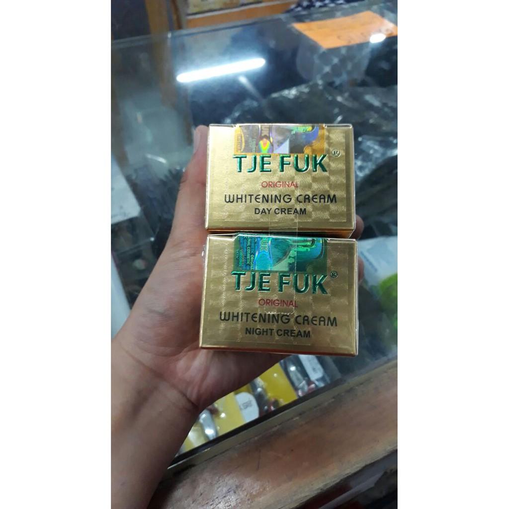 Tje Fuk Whitening Day Night Cream Original Tjefuk Set Ab Asli Shopee Indonesia