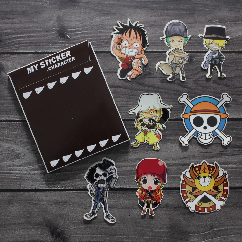 MUGIWARA TEAM ALL CHARACTERS 3 STICKER AUTOCOLLANT POSTER A4 MANGA ONE PIECE