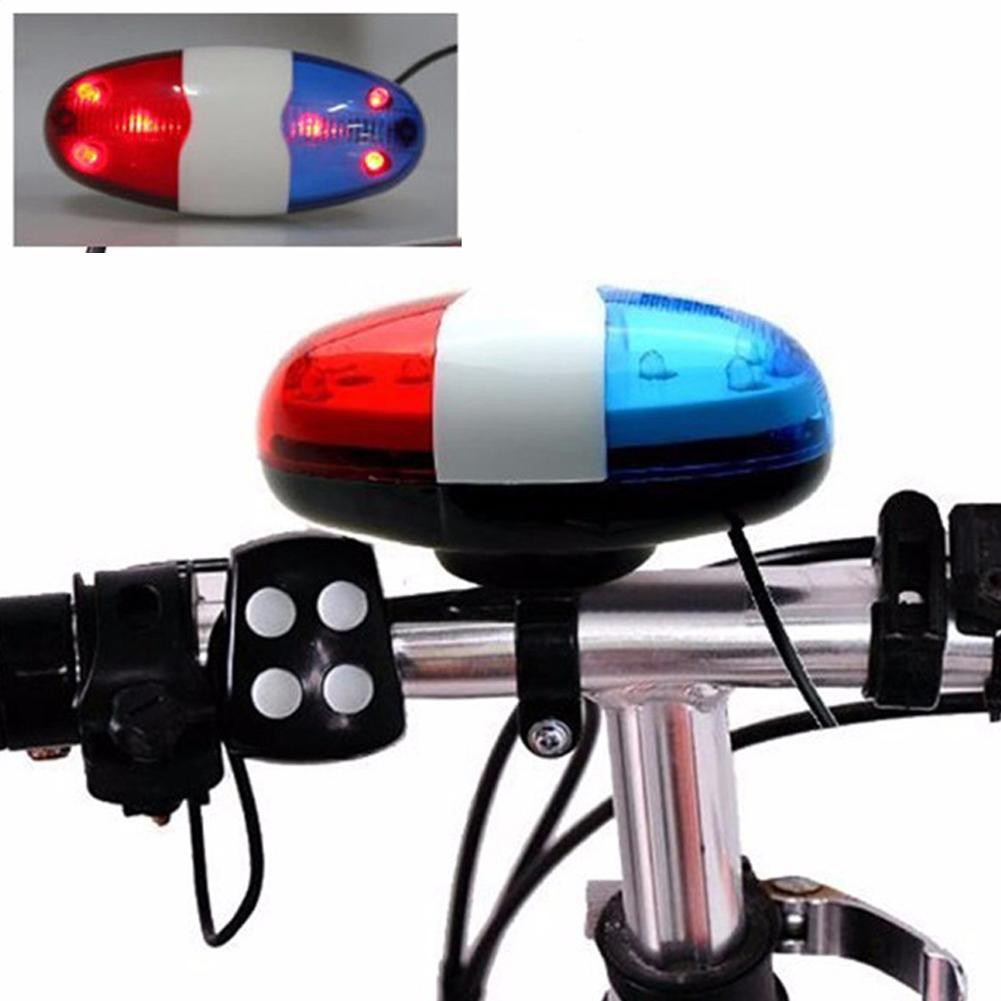 6 Tone Plastic Alarm Ring Police Siren Electric Horn Bell Bicycle Call