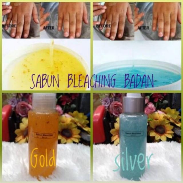 Sabun bleaching badan/bleaching shower pemutih badan