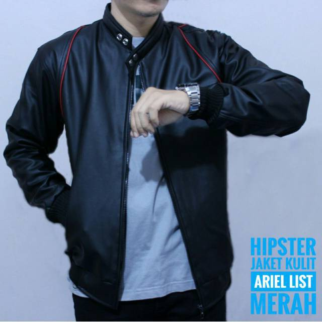Hipster Jaket kulit ariel BEST PRODUCTS | Shopee Indonesia -