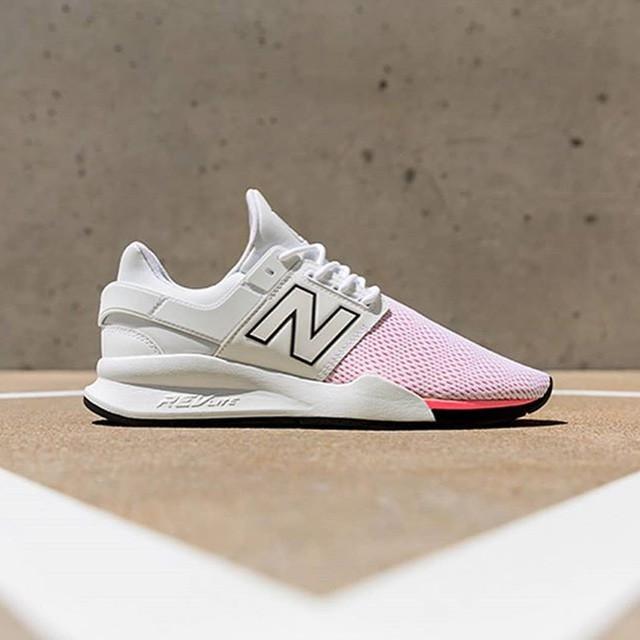 New Balance Women 247 Tritium Full White Pink (women's)