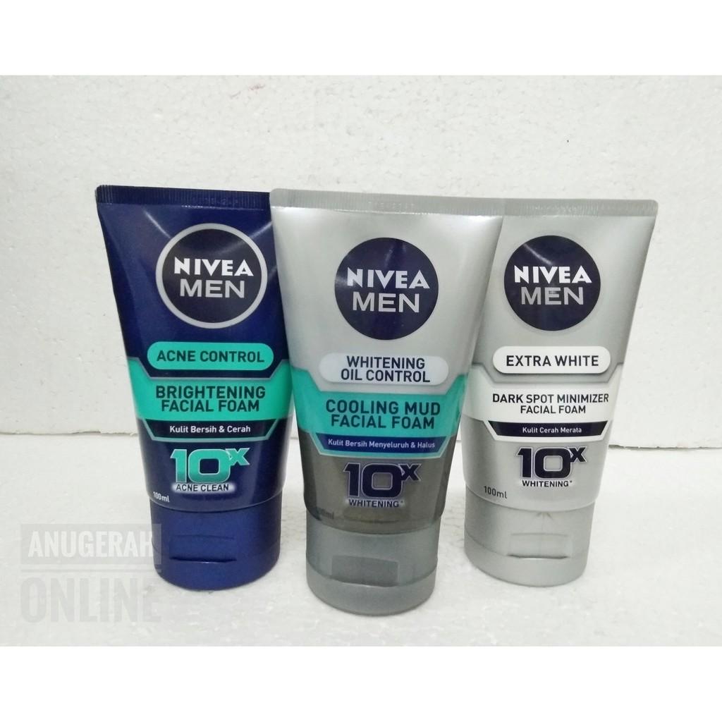 Dapat 2 Nivea Men Facial Foam Oil Control 100 Ml Shopee Indonesia Rexona Wmn Ro Advance Whitnng Rl 50ml