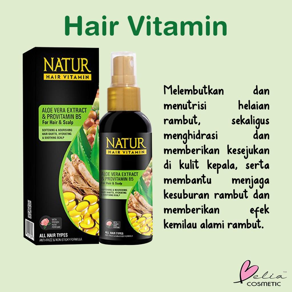❤ BELIA ❤ NATUR Hair Mask   Hair Vitamin   2 in 1 Shampoo & Hair Tonic(✔️BPOM)-2