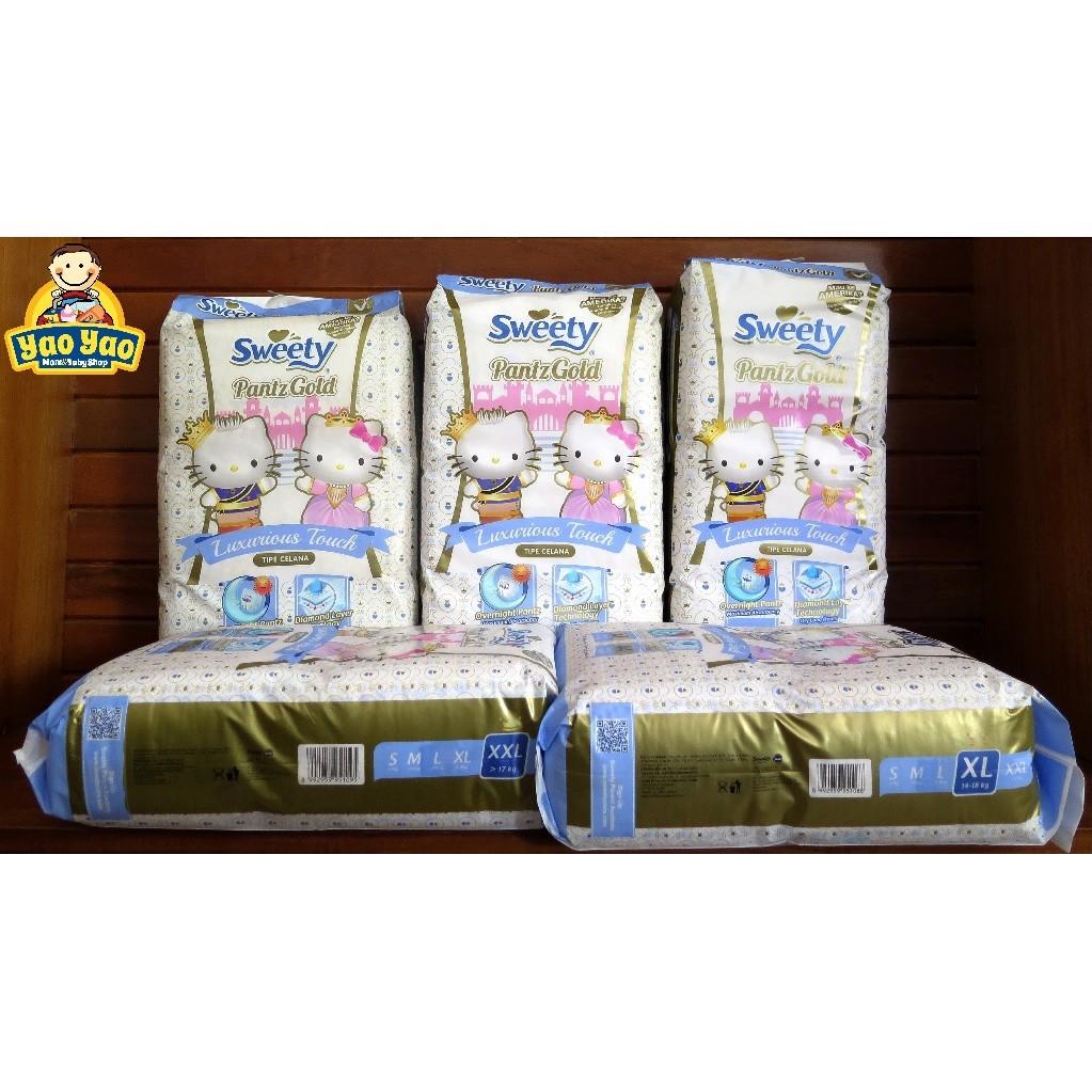 Sweety Pantz Gold S66 M60 L54 Xl44 S 66 M 60 L 54 Xl 44 Popok Bayi Royal Shopee Indonesia