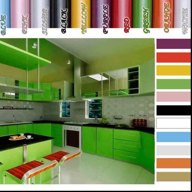 Fjb New Wallpaper Glossy Murah Sticker Kitchen Set Walpaper Full