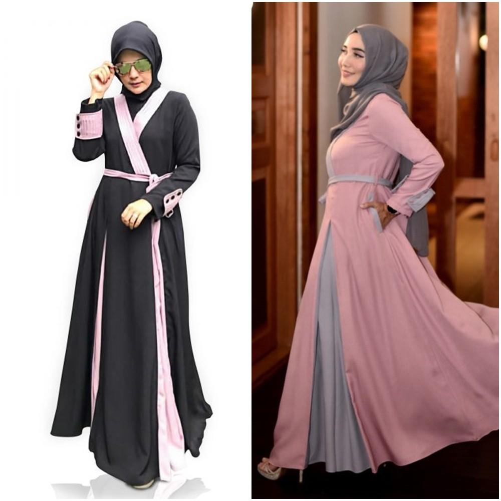 Marvel Dress by Zalifa Exclusive Collection - Baju Muslim Wanita - Gamis