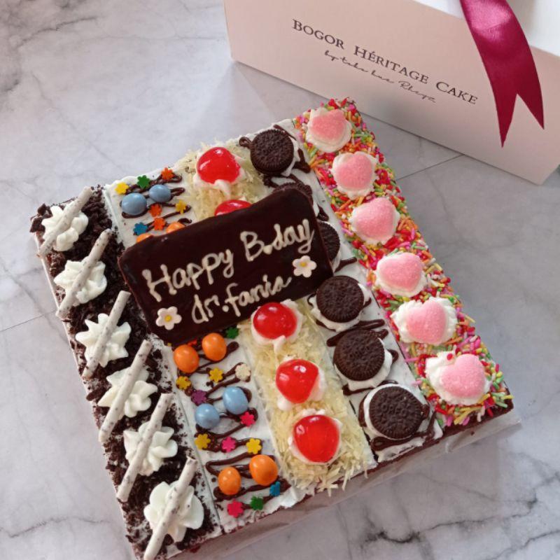 brownies sekat ulang tahun