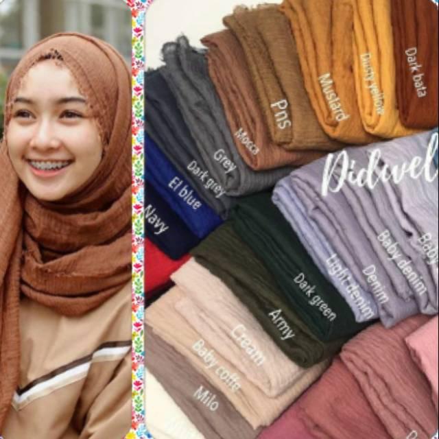 Pashmina Crinkle Arabian Pasmina Arab Trinkle Rawis Ombre Full Hijab Jilbab Kerudung Negro Shawl Shopee Indonesia