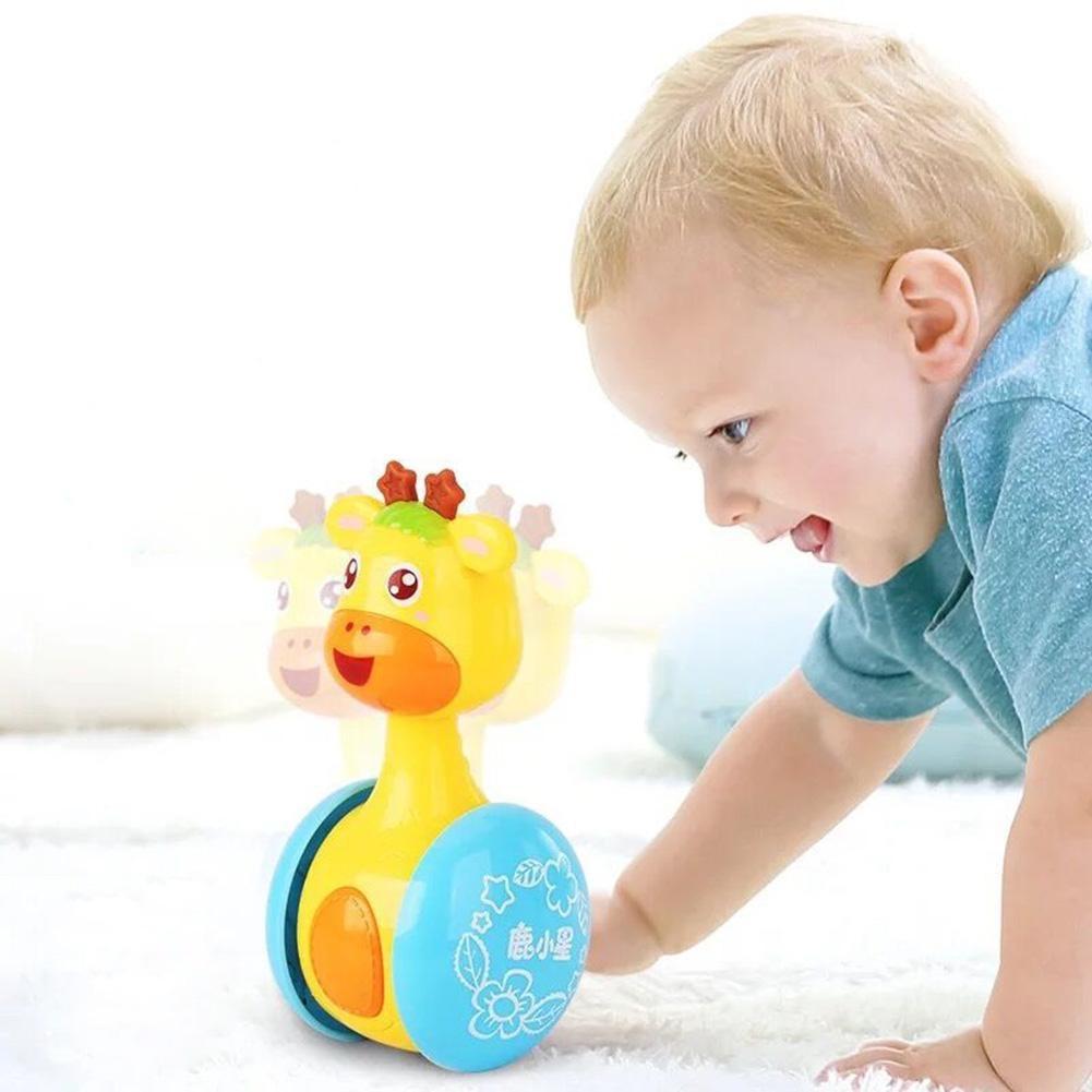 Mainan Kerincingan Dengan Bahan Plastik ABS Dan Gambar Kartun Rusa