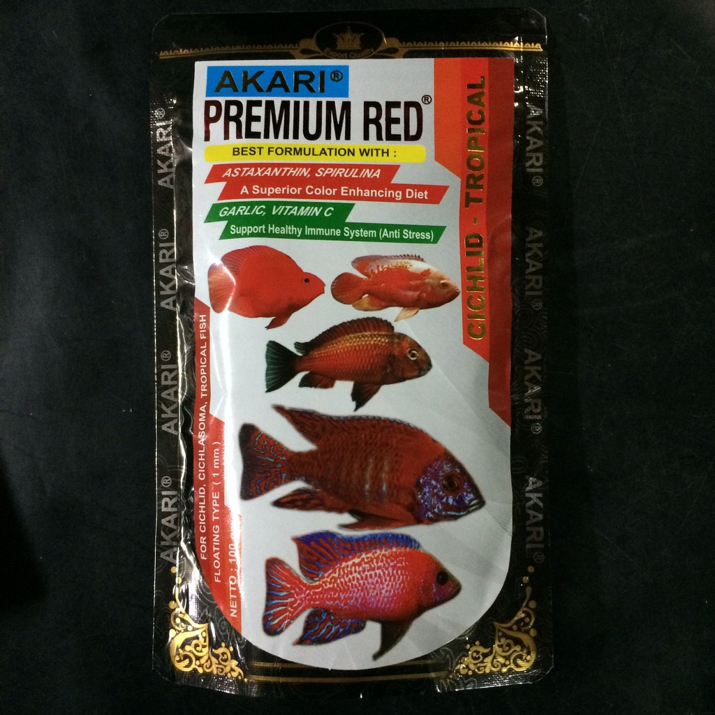 Ready Stock Akari Premium Red Chiclid 100 Gr Shopee Indonesia