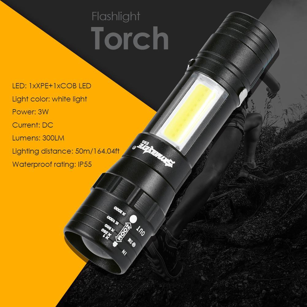 LED CREE TORCHE Zoomable 3 Modes 200 Lumens Flashlight