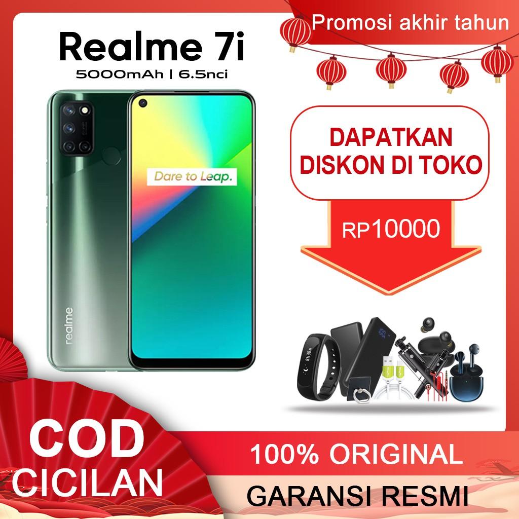 REALME 7i RAM 8GB ROM 128GB ORIGINAL GARANSI RESMI  Termurah Handphone REALME 7i COD CICILAN