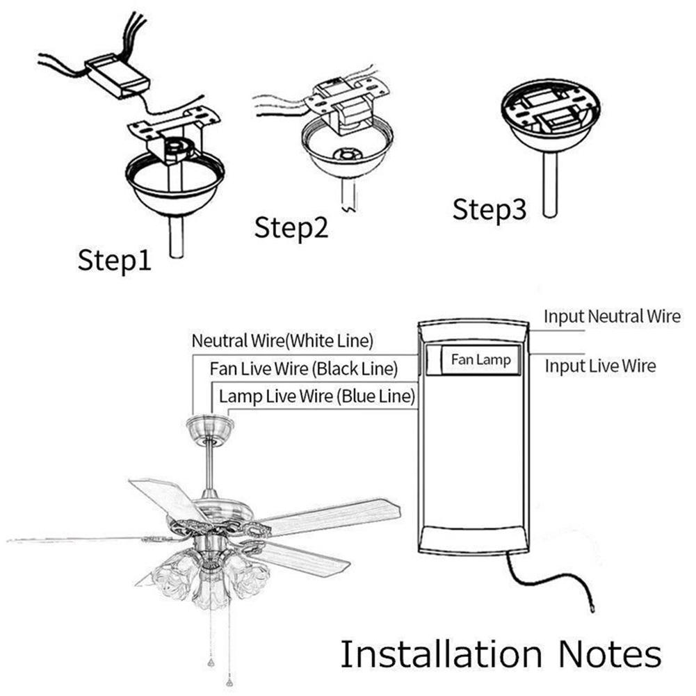 Remote Control Universal Nirkabel Untuk Kipas Lampu Langit Langit Dengan Waktu 110v 220v Shopee Indonesia