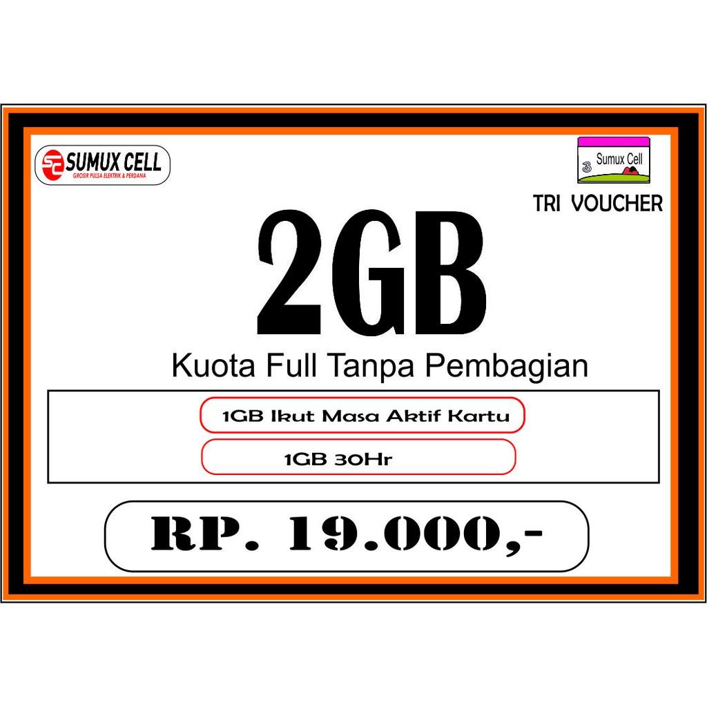 Kartu Perdana INTERNET tri 3 three GM 4GB kuota data 4 gb bonus youtube | Shopee Indonesia