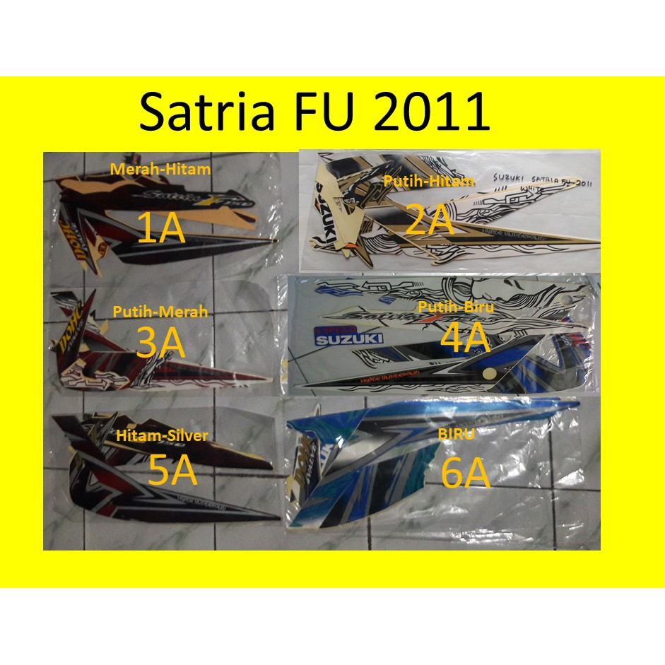 List Stripping Stiker Striping S Satria Fu SE 2011